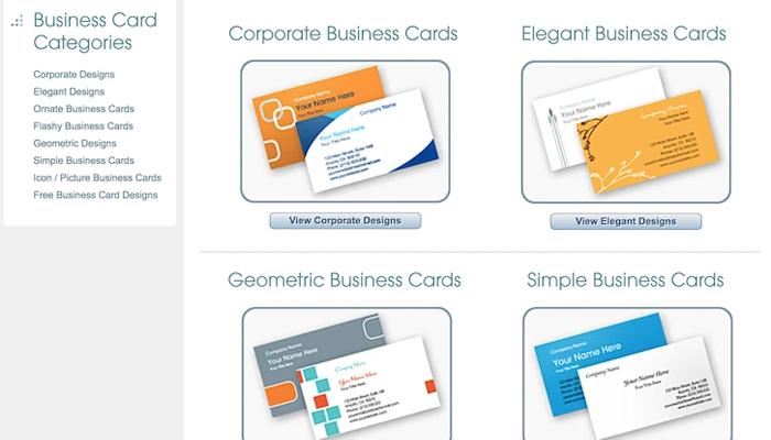 Website thiết kế card visit - Business Card Star