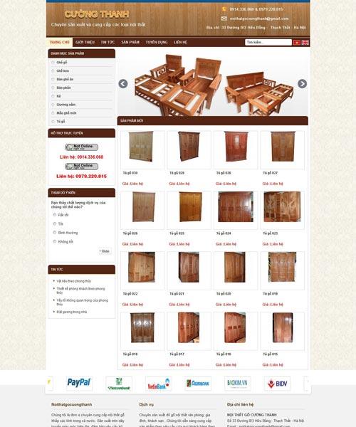 Cấu trúc của một trang web nội thất