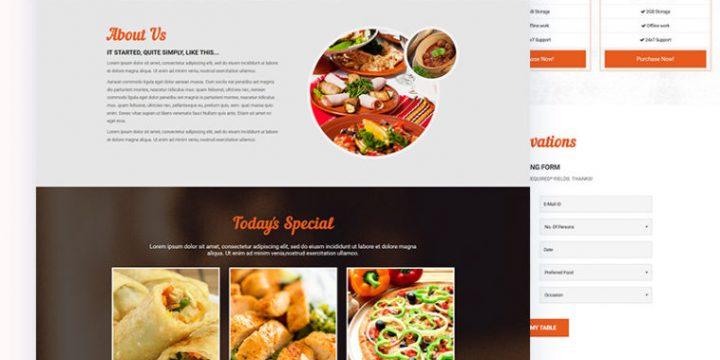 Mẫu website cửa hàng thức ăn nhanh