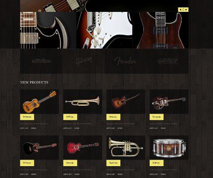 Mẫu website bán đàn guitar