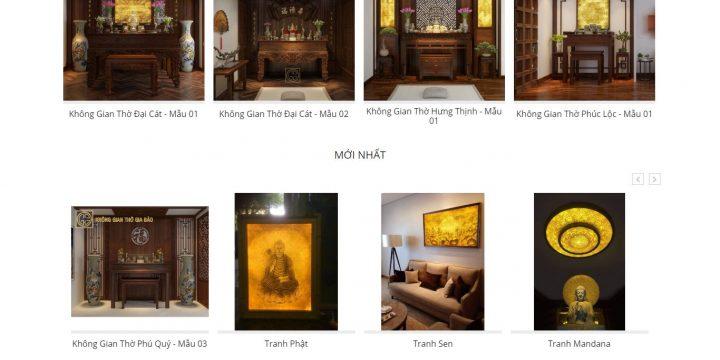 Mẫu thiết kế website bán đồ thờ cúng