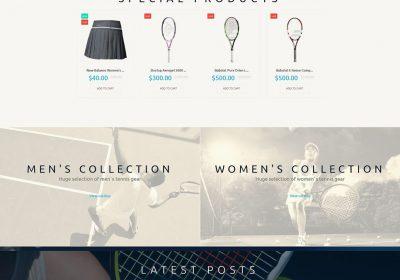 Mẫu thiết kế website bán phụ kiện tennis