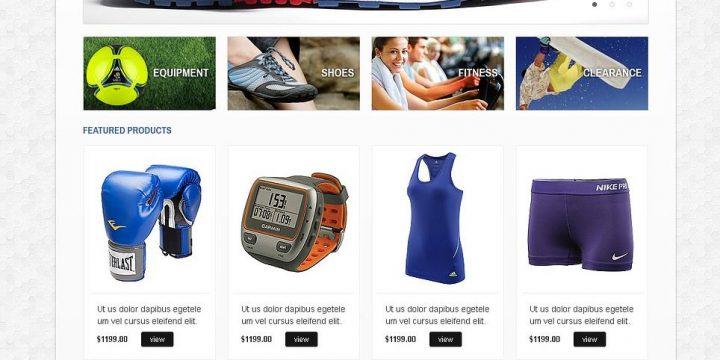 Mẫu website bán phụ kiện thể thao