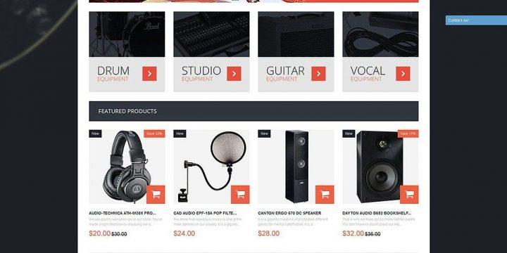 Mẫu website bán thiết bị điện tử