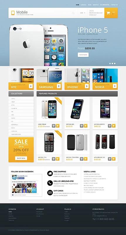mẫu website bán điện thoại