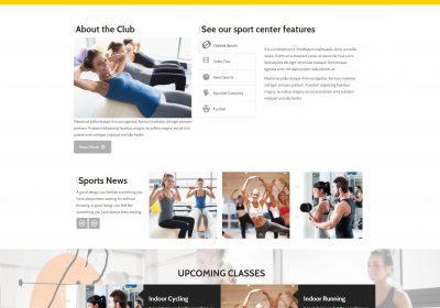 Mẫu thiết kế website trung tâm thể dục – thể thao