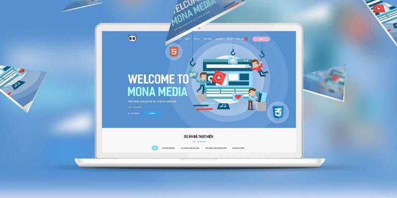 công ty thiết kế web app mona